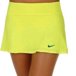 Nike neon yellow dri fit Skort